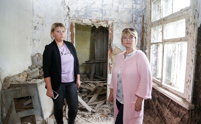 В Щекинском районе аварийный дом грозит рухнуть в любой момент