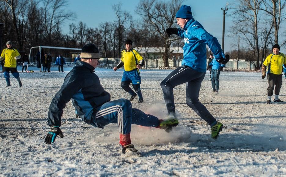 Снежный футбол по-тульски