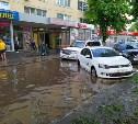 В Туле после ливня затопило дублер проспекта Ленина
