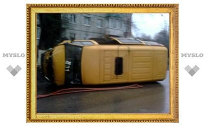В Туле перевернулся автолайн