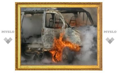 Под Тулой сгорела маршрутка