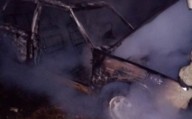 На улице Тульской в Алексине сгорел «Москвич»