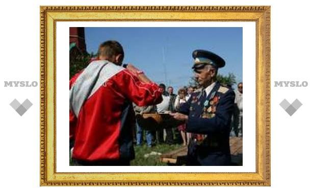 На Куликовом поле - торжественные проводы в армию