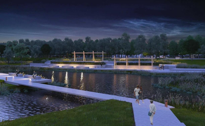 В Липках благоустраивают городской пруд