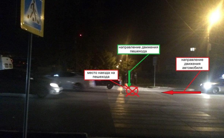 В Щёкино парня сбили на пешеходном переходе