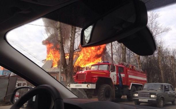 На Одоевском шоссе сгорел дом