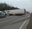 На трассе М2 «Крым» ВАЗ чуть не протаранил грузовик