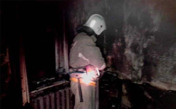 В результате пожара в Ясногорском районе пострадал человек