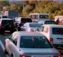 Из-за перекрытия движения на трассе «Тула-Новомосковск» образовалась пробка