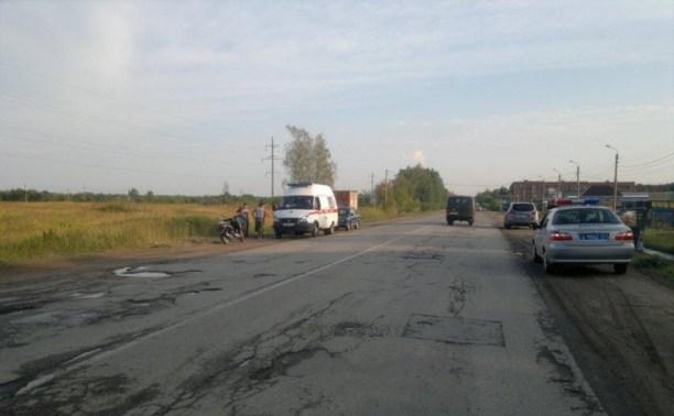 В Алексине водитель «ЗАЗ» сбил скутериста и скрылся с места ДТП