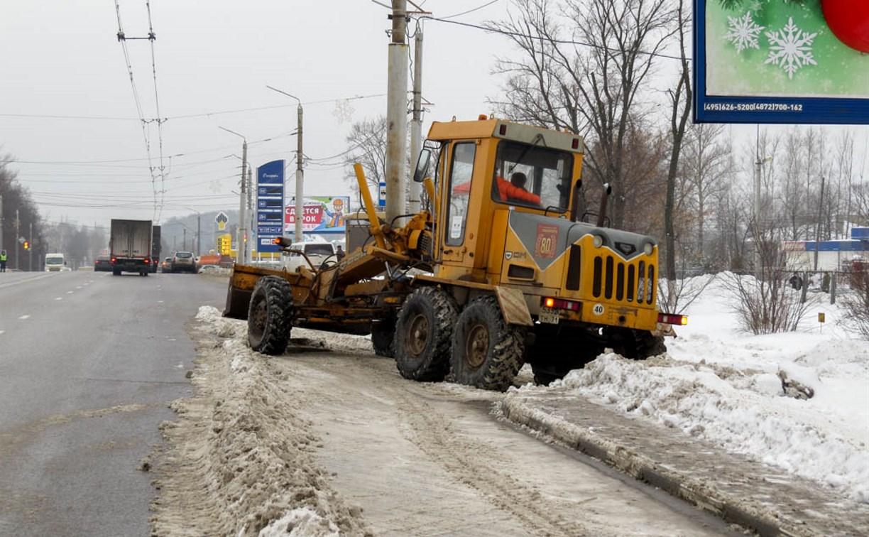 14 января снег с тульских дорог убирают 74 единицы техники