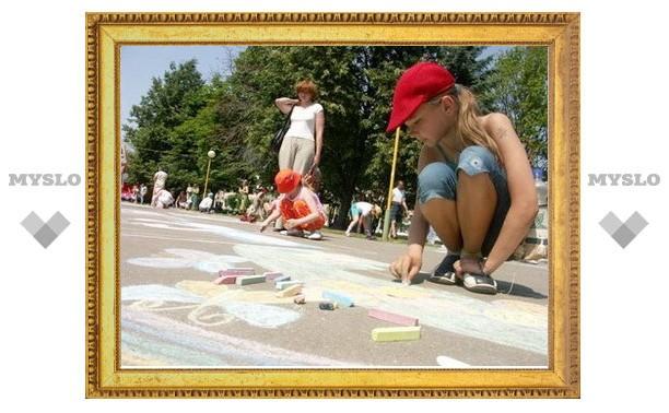 Юные туляки нарисовали «Космос и выборы»