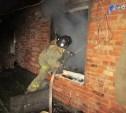 При пожаре в частном доме в Арсеньево пострадал мужчина