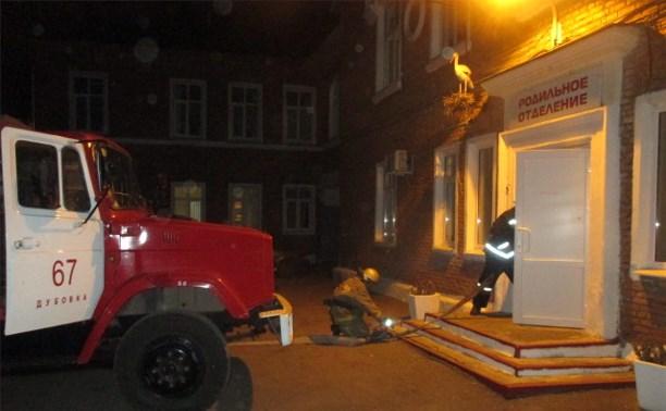 Ночью в Узловском районе загорелся роддом