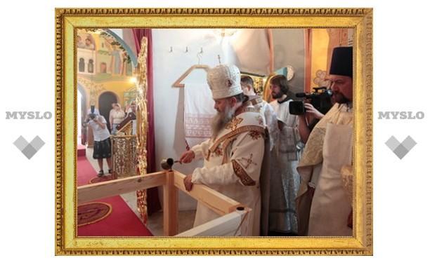 Митрополит Варсонофий освятил храм во имя прп. Серафима Саровского на территории выставочного комплекса «Экспоцентр» в Москве