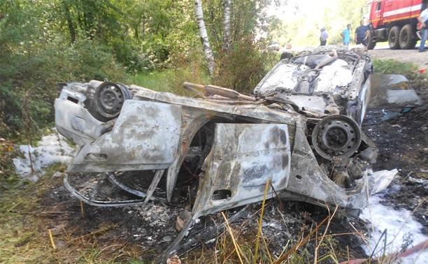 На трассе Калуга-Рязань сгорели два автомобиля