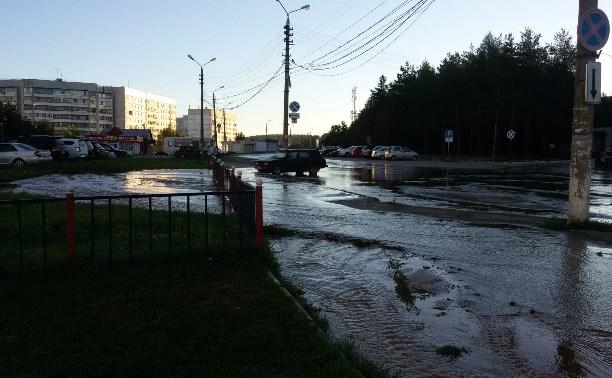 В Туле возле областной больницы текут реки