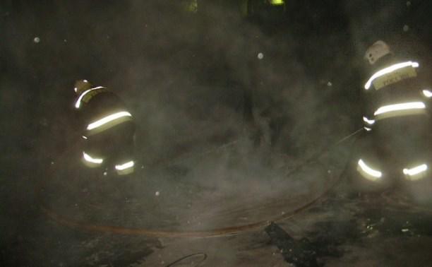 Ночью пожарные тушили две машины в Криволучье