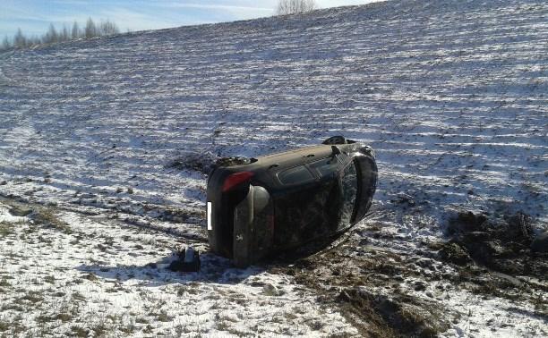 За сутки в Тульской области перевернулись две машины