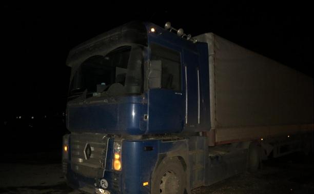 На дороге «Тула-Алешня» грузовик сбил пешехода