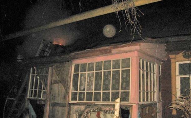 Вечером в Заречье сгорел заброшенный частный дом