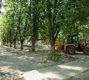 В Туле началось благоустройство скверов и дворов