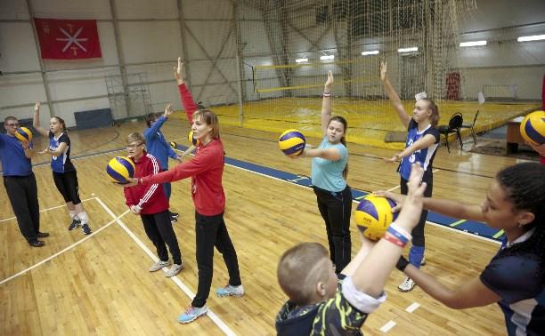 Волейболистки «Тулицы» провели для детей «Тренировку доброты»