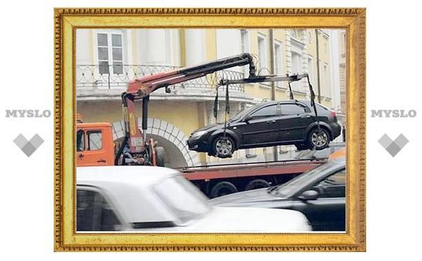 Неправильно припаркованные в Туле машины будут эвакуироваться?