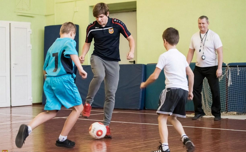 Футболисты  молодёжки «Арсенала» провели мастер-класс для щёкинских школьников
