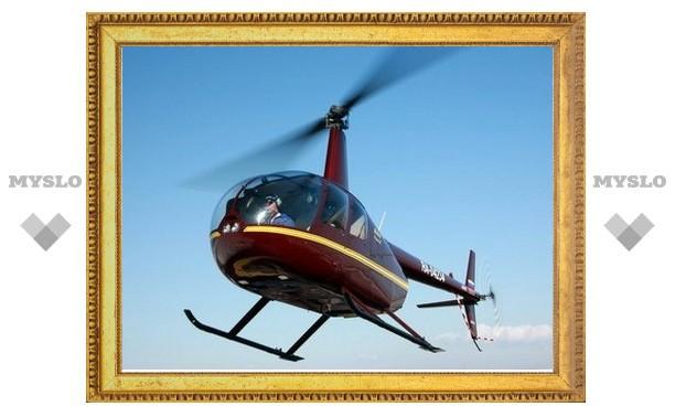На территории Тульской области мог упасть вертолет