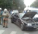 В Туле на пересечении улиц Гоголевская и Свободы столкнулись три автомобиля