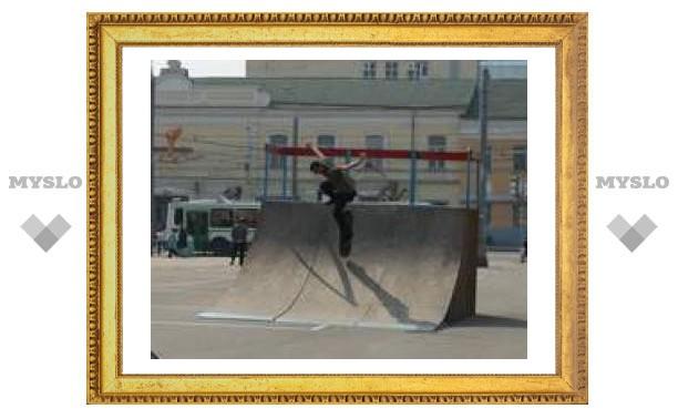 Площадь Ленина - рай для тульских экстремалов