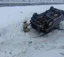 На трассе М-4 «Дон» в Тульской области опрокинулся Hyundai
