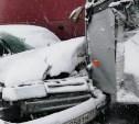 На трассе в Тульской области столкнулись три автобуса, два грузовика и легковушка
