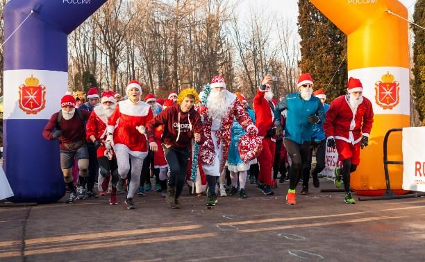 Забег Дедов Морозов в Центральном парке: фоторепортаж