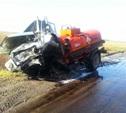 В Тульской области столкнулись иномарка и бензовоз