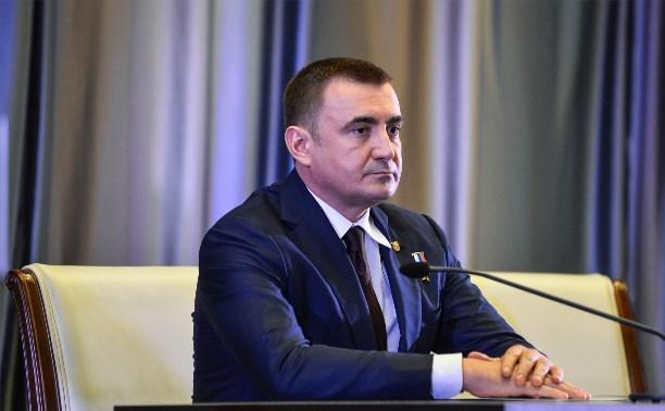 Алексей Дюмин дал первое интервью региональным телеканалам