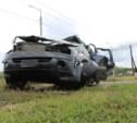 Возле поста ДПС в Плавске столкнулись три иномарки и фура