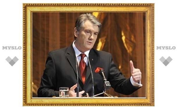 По Симферополю провезли чучело Ющенко