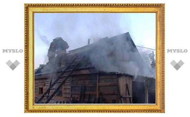 Под Тулой сгорела пенсионерка