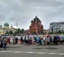 В Туле к мощам Спиридона Тримифунтского выстроилась огромная очередь: видео