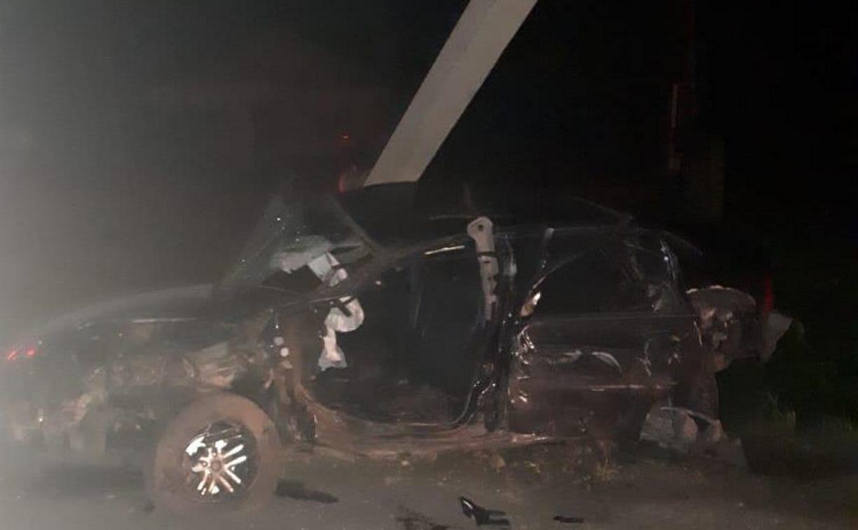 В Щекинском районе Opel врезался в фуру и опору ЛЭП: погибли два человека