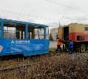 В Туле на проспекте Ленина трамвай сошел с рельсов
