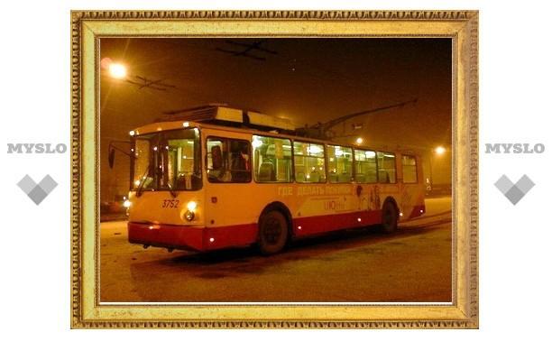 Тульский транспорт в Новогоднюю ночь будет ходить до четырех утра