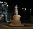 У памятника Петру Первому и скульптуры «Исторический центр города Тулы» появилась подсветка