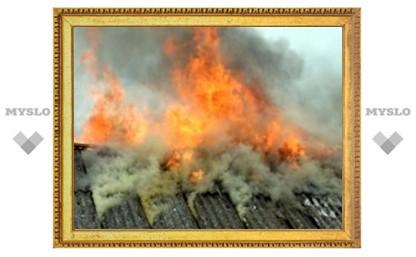 Под Тулой сгорело два дома