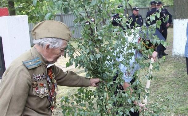 Тульские полицейские высадили аллею в честь коллег, погибших в годы войны
