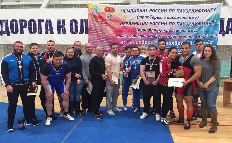 Тульские троеборцы побили рекорды России