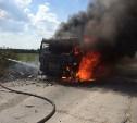 В тульской деревне сгорел грузовик
