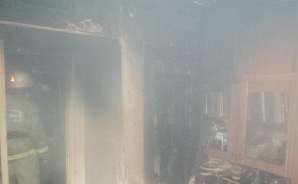 Из-за замыкания в микроволновке в Туле сгорела квартира